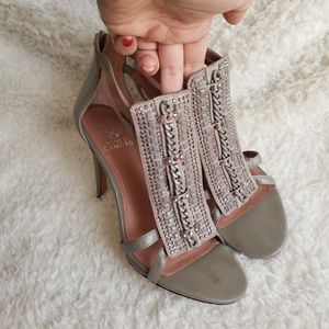 Vince Camuto Anina Strappy Rhinestone Sandal Heels